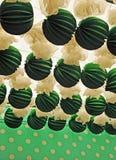 Papierowi lampiony, jarmark w Seville, Andalusia, Hiszpania Obraz Stock