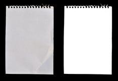 papierowi notatników prześcieradła zdjęcie stock