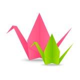 Papierowi origami żurawie ilustracja wektor