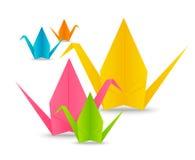 Papierowi origami żurawie royalty ilustracja