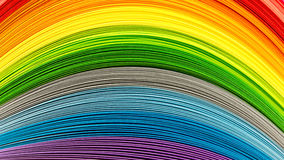 Papierowi paski w tęcza kolorach fotografia royalty free