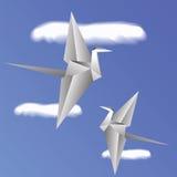 Papierowi ptaki Zdjęcie Royalty Free