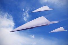 papierowi samoloty Zdjęcie Stock
