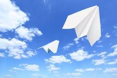 papierowi samoloty Obrazy Stock