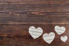 Papierowi serca i kopii przestrzeń Obraz Stock
