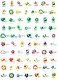 Papierowi stylowi geometryczni kształty z szklanymi skutkami Korporacyjni abstrakcjonistyczni loga projekta ikony pojęcia Obraz Stock