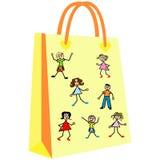 Papierowi torba na zakupy dla Twój projekta Zdjęcie Stock