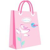 Papierowi torba na zakupy dla Twój projekta Zdjęcia Stock