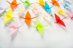 Papierowi żurawie Origami Zdjęcie Stock