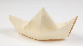 papierowy łódź biel obraz royalty free