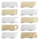 Papierowy abecadła sztandarów prezentacj tło Fotografia Royalty Free