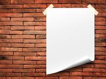papierowy biel Fotografia Stock