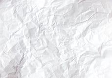papierowy biel marszczył Obraz Royalty Free