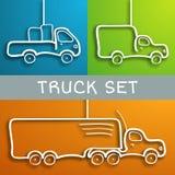 Papierowy ciężarówka set Zdjęcia Stock
