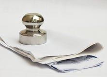 papierowy ciężar Zdjęcia Royalty Free