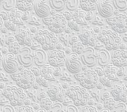 Papierowy 3D OM bezszwowy wzór ilustracja wektor