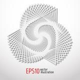 Papierowy 3d projekt Sakralny geometrii tajemnicy kształt Sztuka abstrakcjonistyczny projekt royalty ilustracja