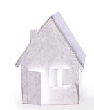Papierowy dom. Odosobniony Zdjęcia Royalty Free