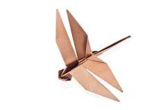 Papierowy Dragonfly. zdjęcie stock