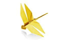 Papierowy Dragonfly. Fotografia Royalty Free