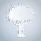 papierowy drzewo Obraz Stock