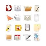papierowy ikona set Zdjęcie Stock
