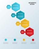 Papierowy infographic sześciokąta szablon Zdjęcia Royalty Free