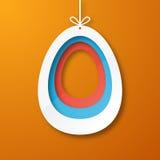 Papierowy jajko Obraz Stock