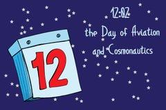Papierowy kalendarz 12th Fotografia Stock