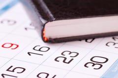 Papierowy kalendarzowy zakończenie Obrazy Stock