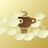 Papierowy kawowy tło Obrazy Royalty Free