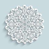 Papierowy koronkowy doily Fotografia Royalty Free
