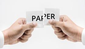 Papierowy kostkowy pojęcie Obraz Royalty Free