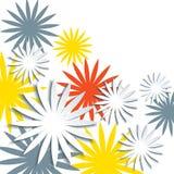 Papierowy kwiecisty wiosny i lata tło 3d origami kwiecisty pojęcie ilustracja wektor