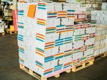 Papierowy manufaktury storehouse Obrazy Stock