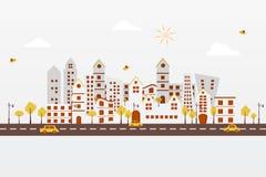 Papierowy miasto Ilustracji