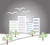 Papierowy miasto krajobraz Obraz Royalty Free