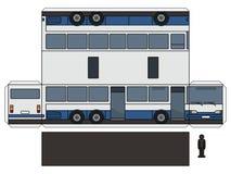 Papierowy model długi autobus ilustracji