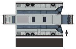 Papierowy model szary wielki autobus ilustracja wektor