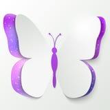 Papierowy motyl Zdjęcia Royalty Free
