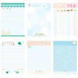 Papierowy notatnika koloru błękita styl Zdjęcie Stock