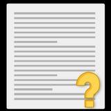 papierowy notatnika kwestionariusz royalty ilustracja