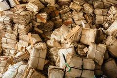 Papierowy odpady dla przetwarza zdjęcie stock