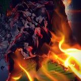 Papierowy ogień Zdjęcie Royalty Free