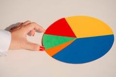 Papierowy okręgu wykres Obraz Stock