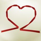 Papierowy origami serce na eleganckim tle Fotografia Stock