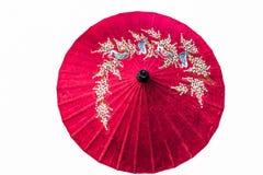 Papierowy parasol odizolowywający zdjęcia royalty free