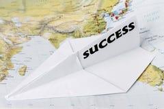papierowy płaski sukces Obraz Stock