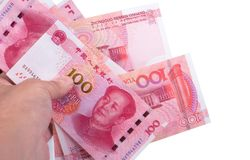 Papierowy pieniądze porcelana Zdjęcie Stock