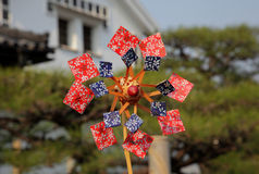 Papierowy pinwheel, wiatraczek Fotografia Royalty Free